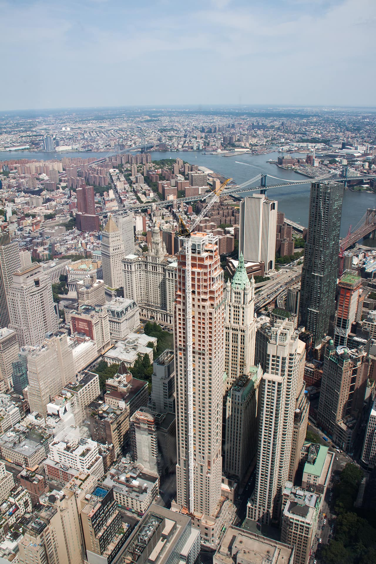 New York Städtetrip at the top