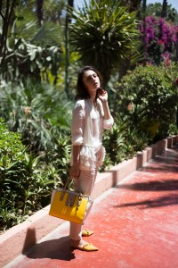 Jardin Majorelle Look Marrakesch Fashion Blog