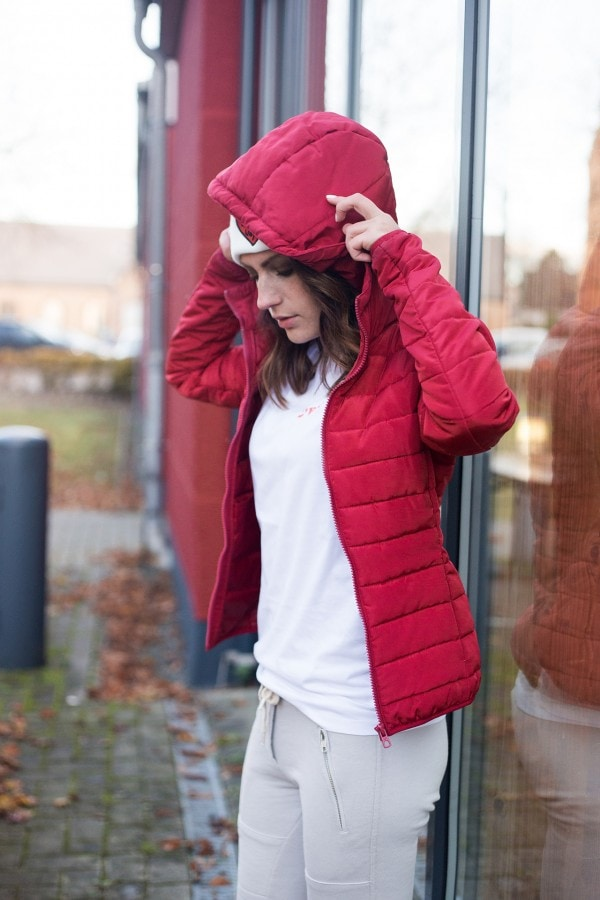 Sincerely Jules Jogginghose mit Daunenjacke - Padded jacked red