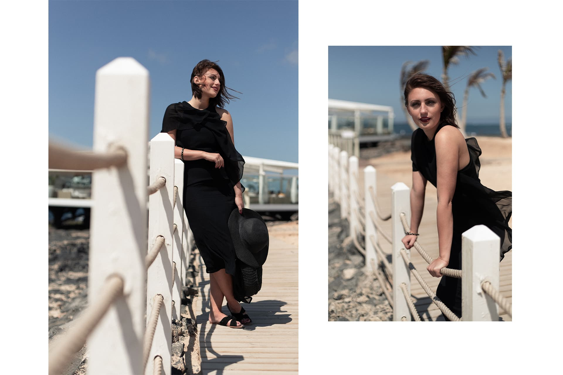 asymmetrisches Abendkleid am Strand | Editorial Photography | C'est Levi